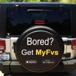 Advertise an App on a custom tire cover.