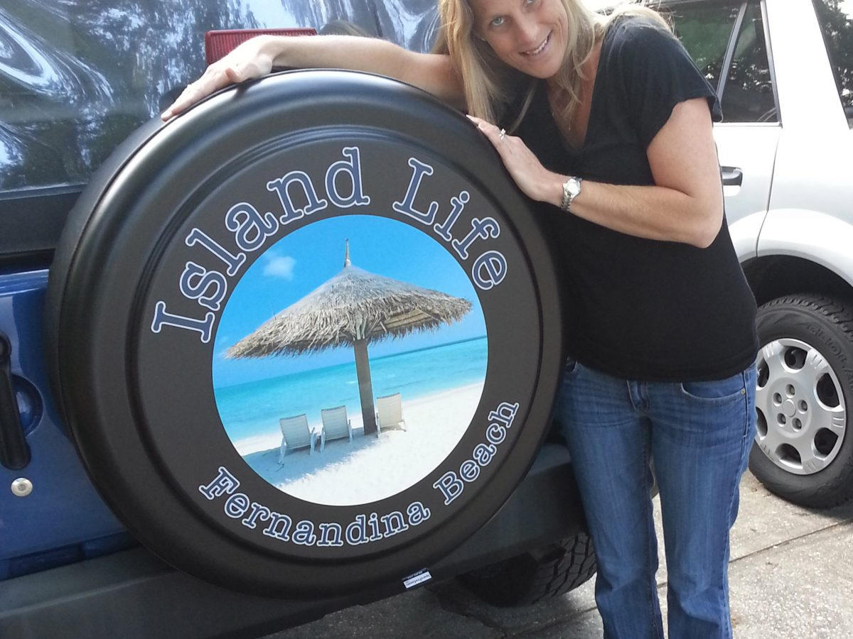 American Unlimited Custom JL Jeep Tire Cover You Design Personalized Full Color Spare Tire Cover Size 33 Inch