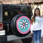Life is Good Daisy tire cover