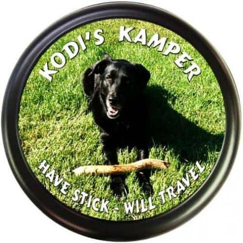 Kodi's Funny RV tire cover