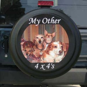 Personalized Jeep tire cover