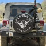 Rugged spare tire covers for 4WD guiding services