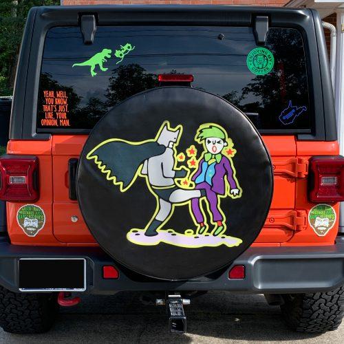 Batman and Joker Soft Tire Cover