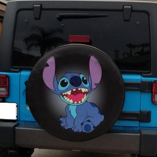 Lilo and Stitch Custom Soft Tire Cover