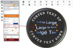 Curved text on your design