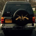 Insignia on a tire cover