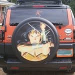 Wonder Woman Tire Cover